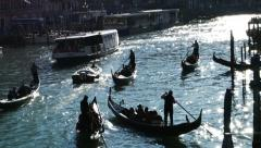 Venice at sunset - Grand Canal Stock Footage