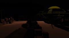 UFO Alien Area 51 Pan Past Inside Stock Footage