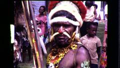 CANNIBALS Papua New Guinea Tribe Warrior Vintage Film Film Home Movie 8297 Stock Footage