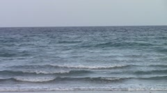 Beach Waves on a Muggy Afternoon Stock Footage