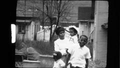 Black African American Kids Brother Sister 1970s  Vintage Film Home Movie 8304 - stock footage