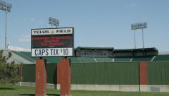 Exterior shot of Telus Field in Edmonton, Alberta, Canada. Stock Footage