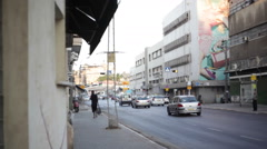 A rustic poor street in south Tel-Aviv Stock Footage