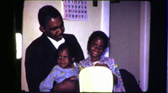 FATHER African American Black FAMILY 1970s Vintage Film Home Movie 8313 - stock footage