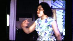Black Woman African American Middle Aged 1970s Vintage Film Home Movie 8314 Stock Footage
