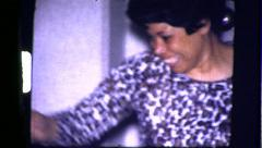 Black Woman Dancing African American Black 1970s Vintage Film Home Movie 8315 - stock footage