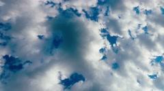 4K Motion Clouds on dark Blue Sky - stock footage