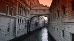 Bridge of Sighs Stock Footage