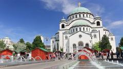 Temple of Saint Sava in Belgrade Stock Footage