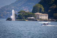 View of lake in Como City, Italy - stock photo