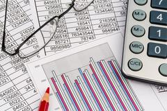 Calculator and statistk Stock Photos