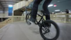 4k bmx bunnyhop barspin Stock Footage
