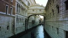 Gondola and Bridge of Sighs Stock Footage