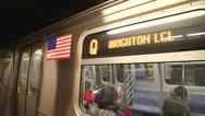 Stock Video Footage of Inside subway, NY subway