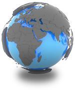 Western Hemisphere on Earth Stock Illustration