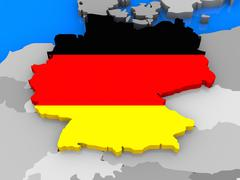 Germany standing out of map Stock Illustration
