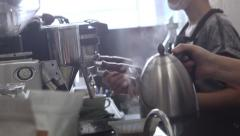 Coffee Shop Detail 12 Stock Footage