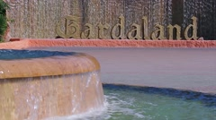 Central inscription Gardaland. Amusement park Gardaland. Stock Footage