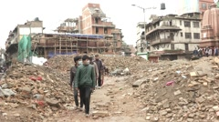 Earthquake Nepal Durbar Square Stock Footage
