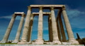 Olympeion, Greek temple of Zeus timelapse sunny bright day wide view HD Footage