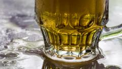 Mug of Cold Beer Dewy HD Stock Footage