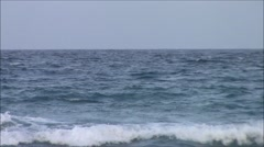 Ocean Waves with Horizon Stock Footage