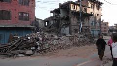 Earthquake Nepal Bhaktapur  Stock Footage