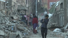 Earthquake Nepal Bhaktapur  - stock footage