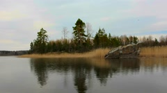 Coast with the Northern nature in the spring Stock Footage