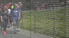 Vietnam Veterans Memorial reflection Wall 4K 051 Stock Footage