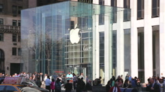Apple store NYC Stock Footage