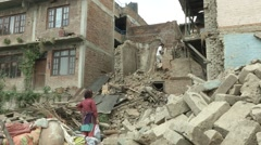 Earthquake Nepal, Khokana  Stock Footage
