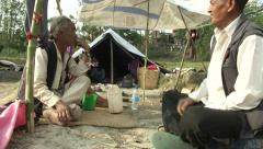 Earthquake Nepal, Khokana IDP Camp  Stock Footage