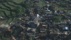 Earthquake Nepal, Helicopter view  Stock Footage
