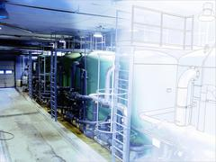 Industrial background Stock Illustration