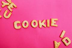 Alphabet cookies Stock Photos