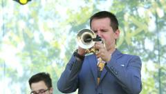 Trumpet and sax on stage. Stock Footage