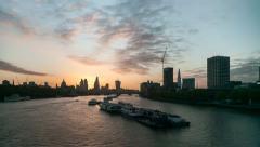 London Waterloo Sunrise Stock Footage