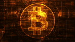 looping bitcoin background - stock footage