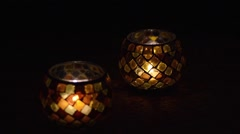 Glass Orb Candle Focus Shift - stock footage