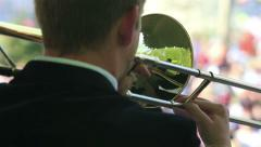 Trumpeter on the stage. Stock Footage