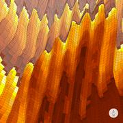 Abstract landscape background. Mosaic vector illustration Stock Illustration