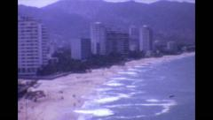 Acapulco Beach, Mexico 1984 Super 8 Stock Footage