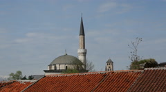 The gazi husrev-beg mosque in Sarajevo Bosnia and Herzegovina Stock Footage
