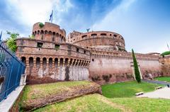Rome, Italy. Beautiful view of Saint Angel Castle Stock Photos