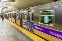 New York subway station fast moving Kuvituskuvat