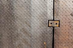 Dirty metal diamond grip pattern Stock Photos