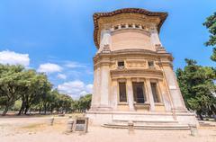 ROME - JUNE 14, 2014: Tourists visit Villa Borghese. The city attracts more t - stock photo