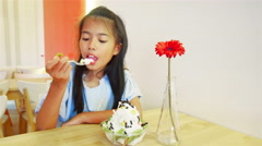Girl with ice cream Stock Footage