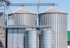 Stock Photo of Storage facility cereals, and biogas production